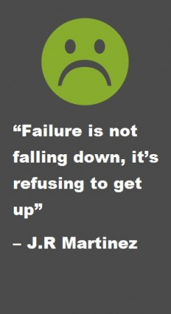 Failure is not falling down, It's refusing to get up
