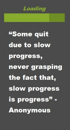 Some quit due to slow progress